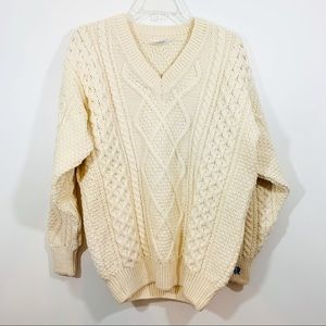 Irish Chunky Cable Knit Wool Unisex Sweater